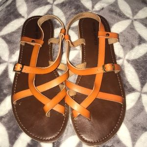 Mossimo supply co. Orange strappy sandals